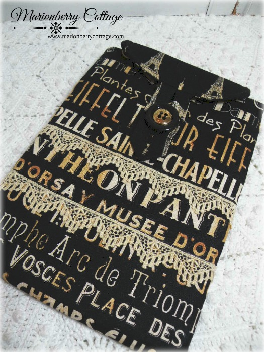 Kindle Cover sleeve French Subway words