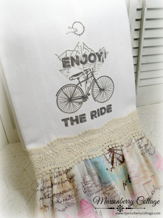 French Country Enjoy the Ride towel