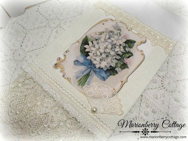 Guest Tea towel white floral bouquet