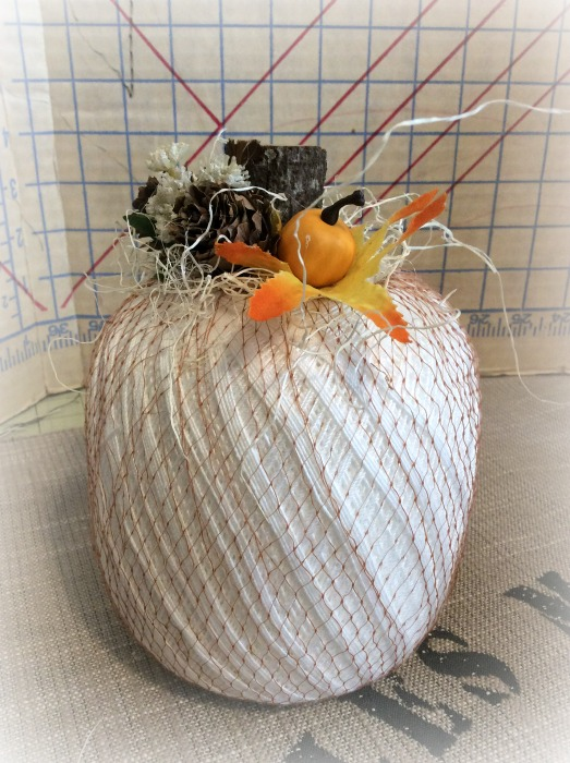 Twine spool Pumpkin Rustic Farmhouse