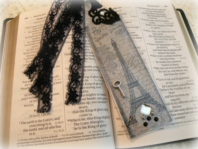 Vintage Paris Bookmark