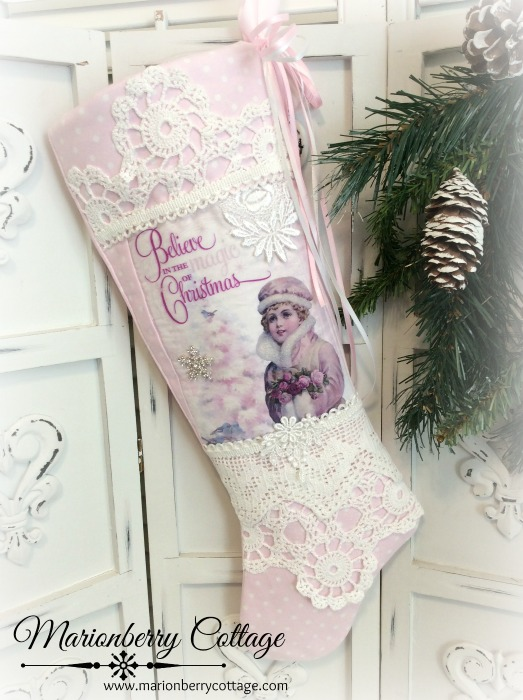 Believe in the Magic of Christmas stocking