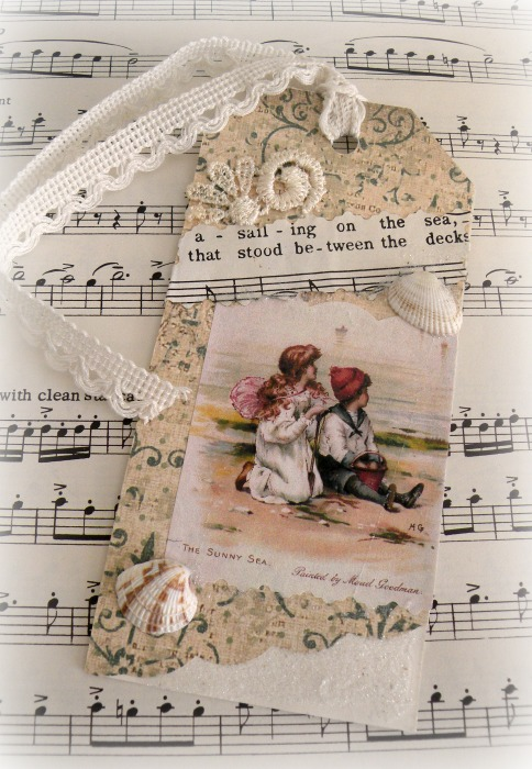 By the Sea gift tag