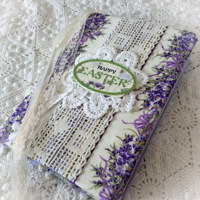 Lavender Easter/Springtime Embellished journal