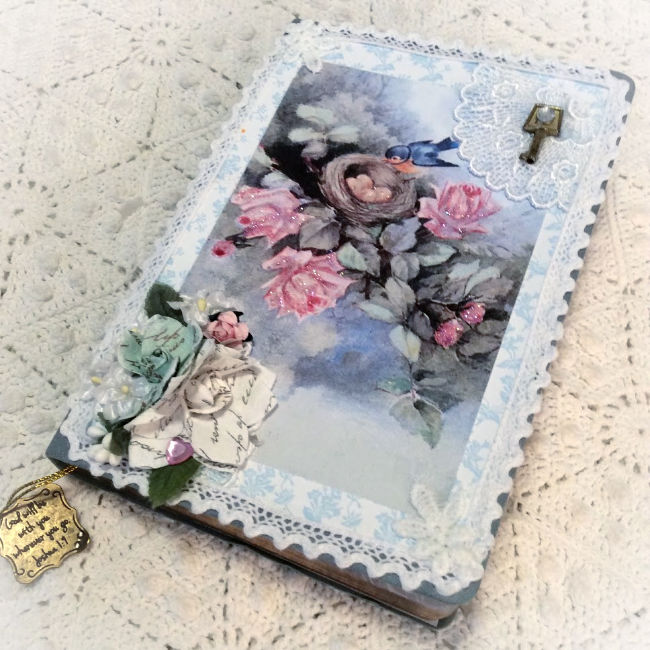 Birds and Roses theme Embellished Journal