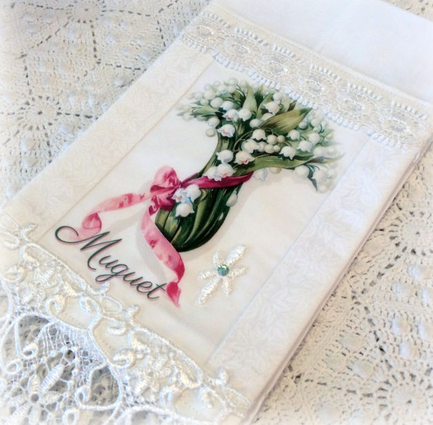 Guest Tea towel French Mugent Lily of the Valley