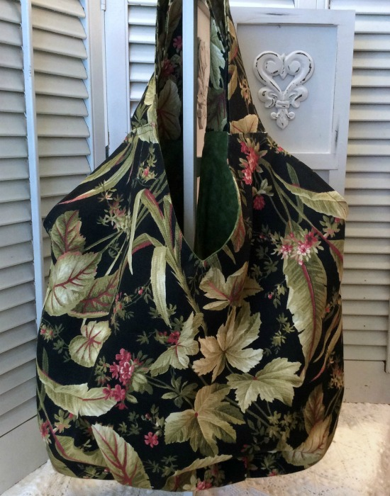 Tropical Palms Large Packable Market/Beach bag