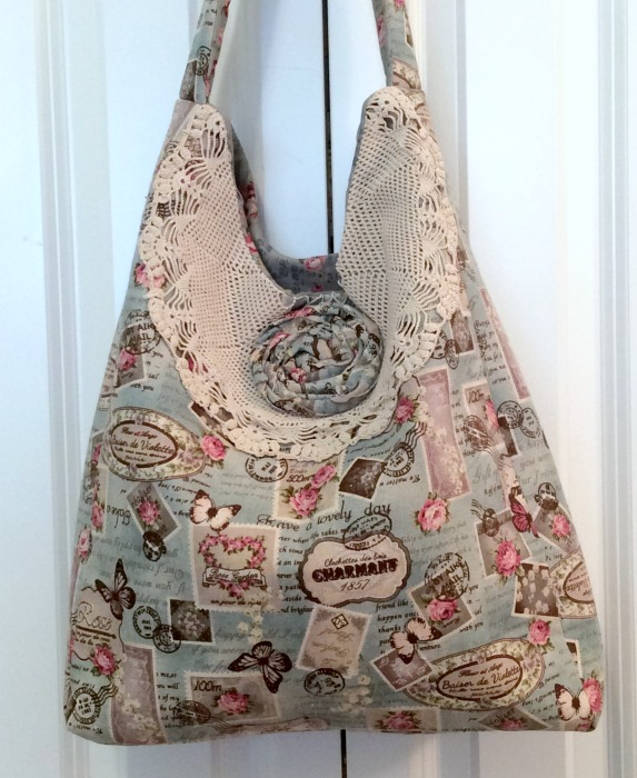 French Roses Flea Market large packable tote
