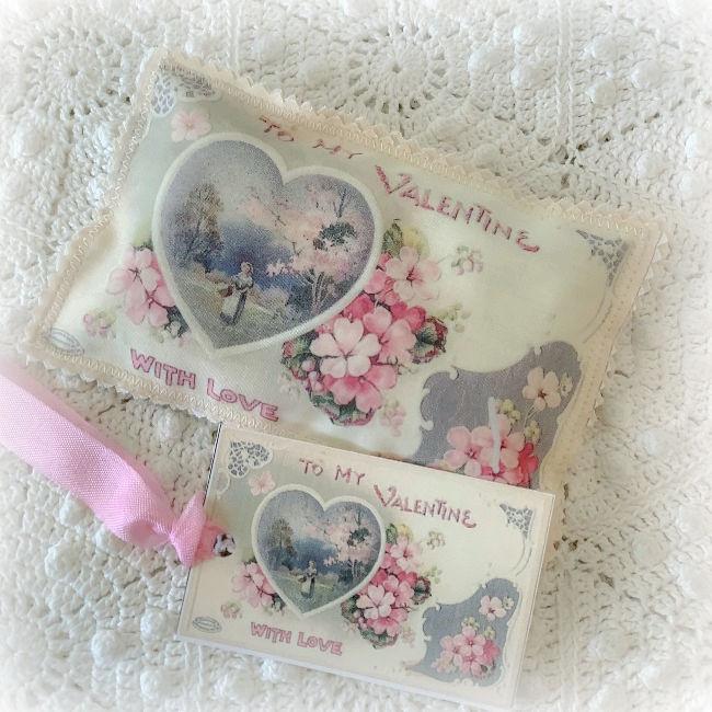 Vintage Valentine Lavender Sachet Hearts & Roses