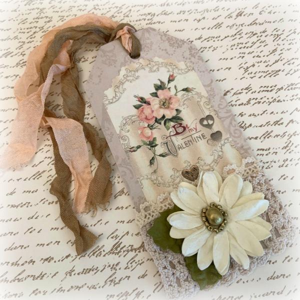 Victorian Valentine gift tag