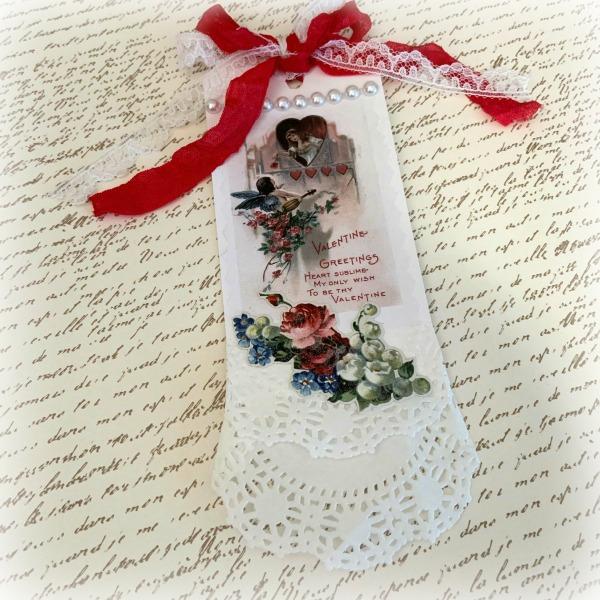 Vintage Lady Valentine Gift tag