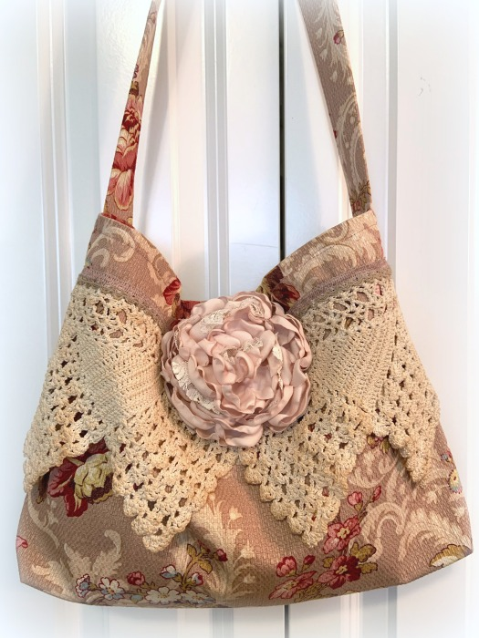 Dusty rose vintage style Market tote