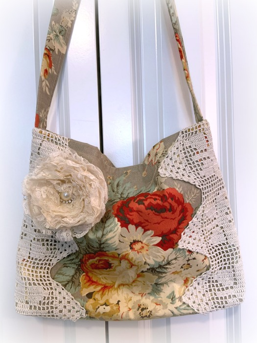 Waverly Roses market tote/handbag