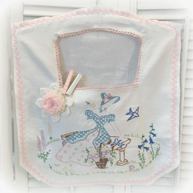 Vintage Southern Belle Clothes pin lingerie bag
