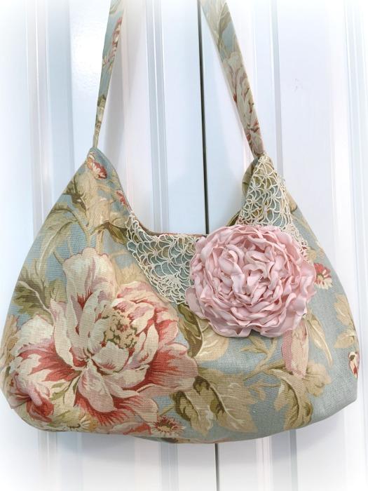 Vintage Pink Rose handbag