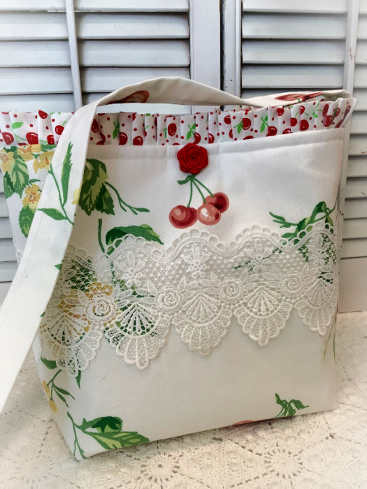 Cherries and Blossoms Market tote