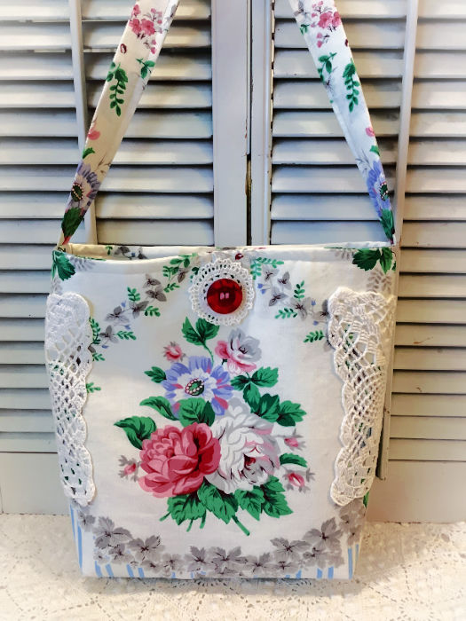 Roses and stripes large Market tote bag