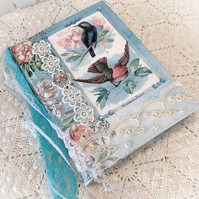 Birds and Roses Embellished junk journal