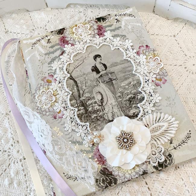 Vintage Photos Embellished Journal