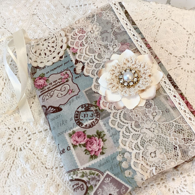 Embellished French roses Journal