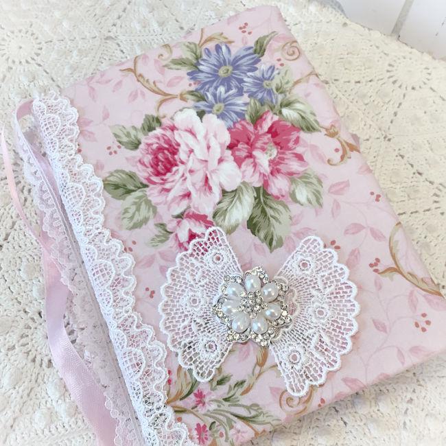 Embellished Pink Roses Journal
