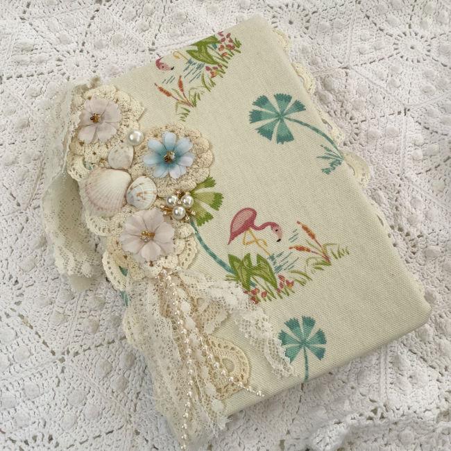 Vintage1920's Seaside theme Embellished Journal