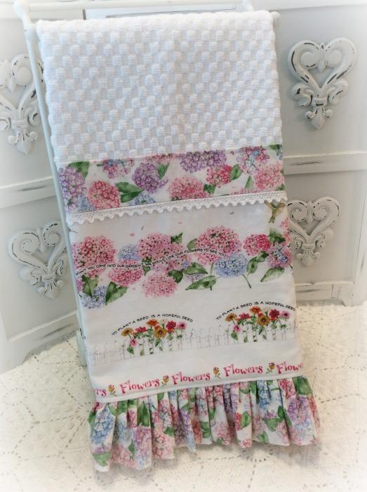 Flower Garden and birds Kitchen towel