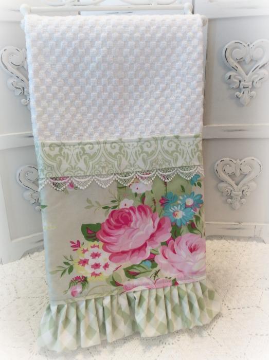 Pink SummerRoses Kitchen towel