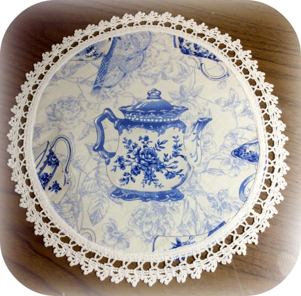 Vintage Tea Time doily