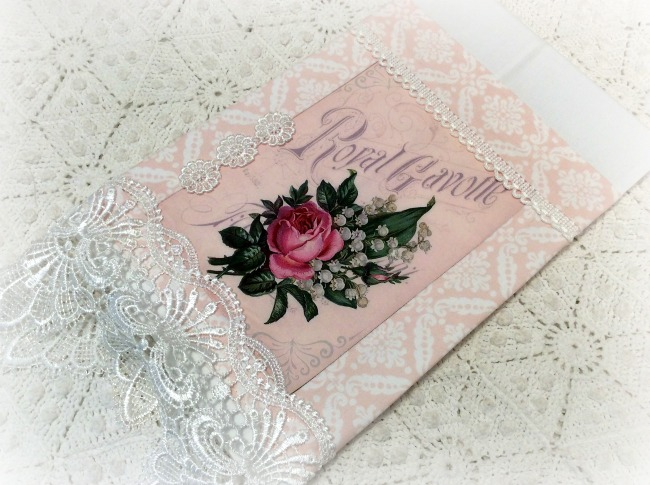 Guest Tea towel French Script roses