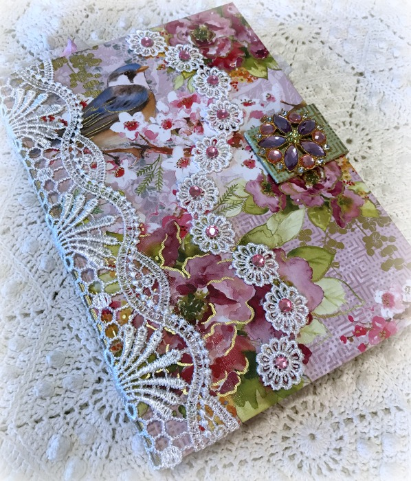 Blue Bird Floral Embellished Journal