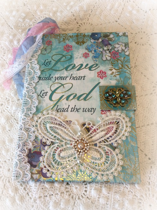 Christian Verse Butterfly embellished journal