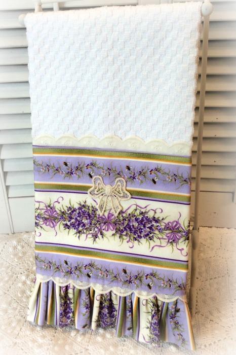 Lavender Garden kitchen towel