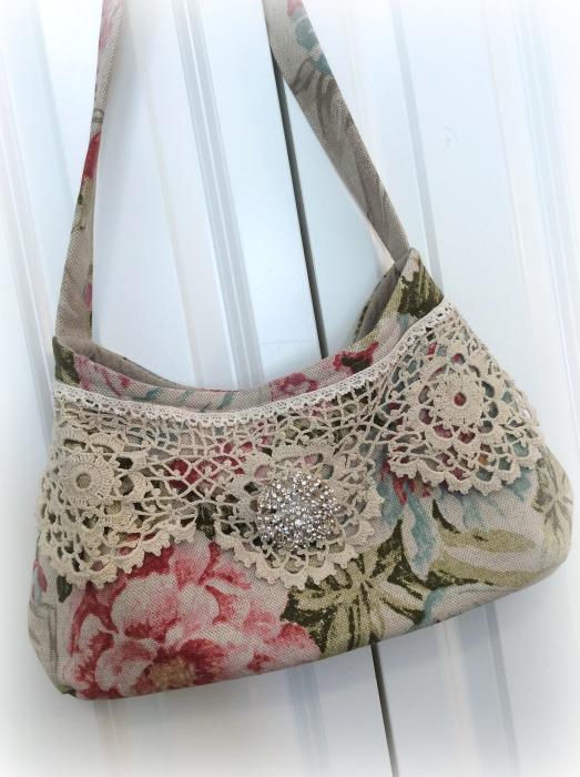 Red Roses Bouquet Hobo handbag