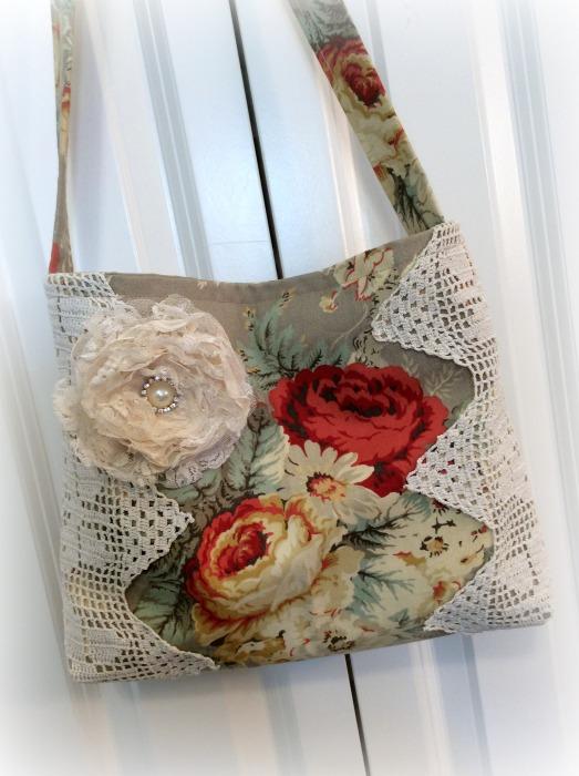 Waverly Roses market tote/handbag