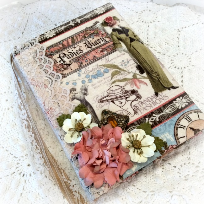 Vintage Ladies Dairy Embellished journal