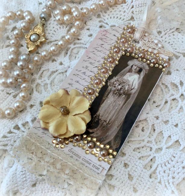 Dreams come true Vintage Bride Gift tag