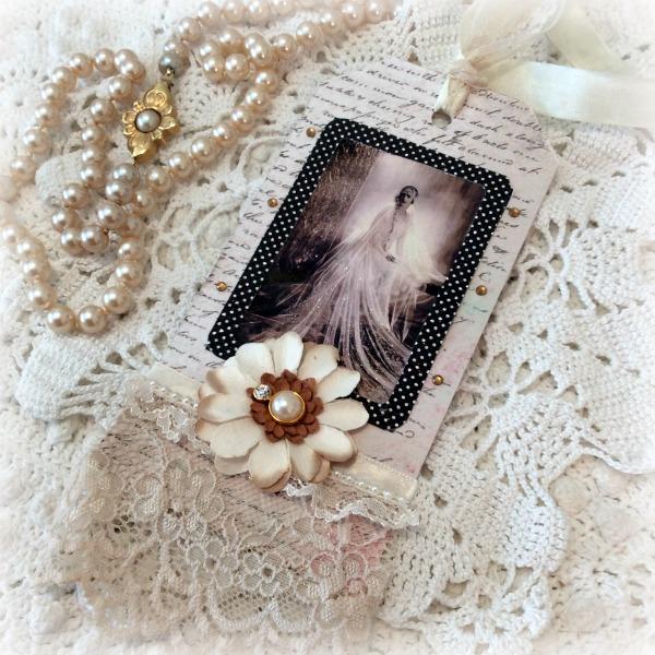 Vintage Bridal Large gift tag