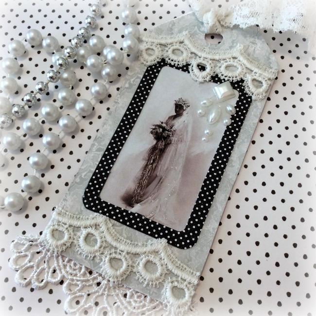 Vintage Bride gift tag