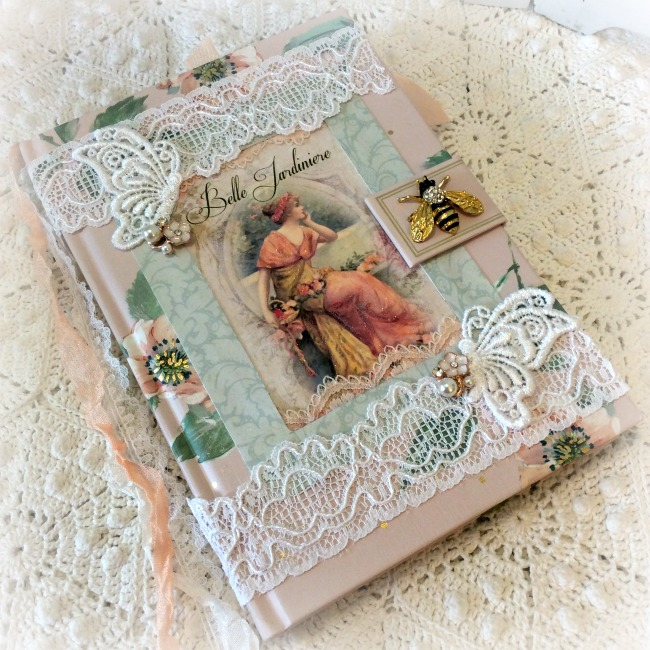 French Belle Garden Bee Embellished Journal