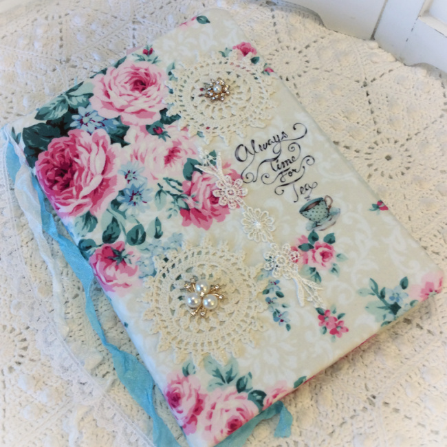 Tea & Roses party Embellished Journal