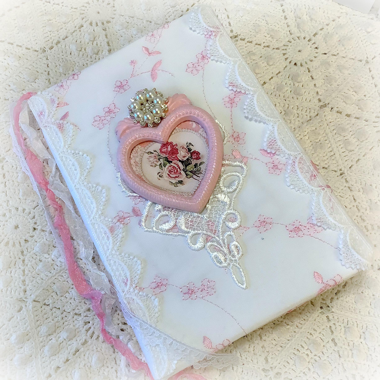 Vintage Victorian Roses Embellished journal