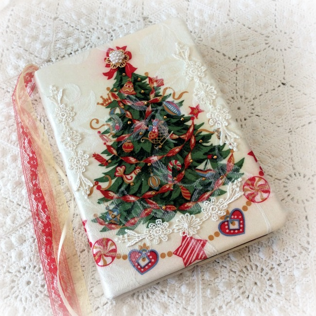 Old Fashioned Christmas Tree Embellished journal