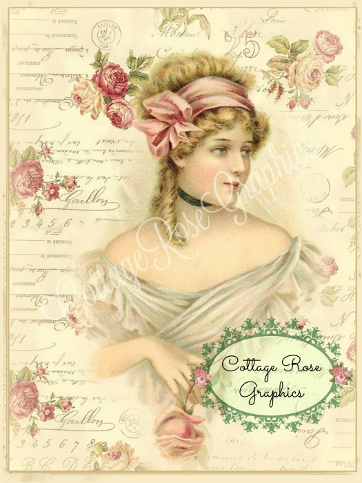 Lady in the Roses art print
