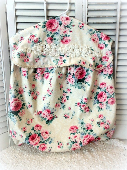 Pink roses Lingerie/Laundry bag with top & bottom opening